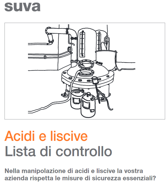 Acidi e liscive Lista di controllo