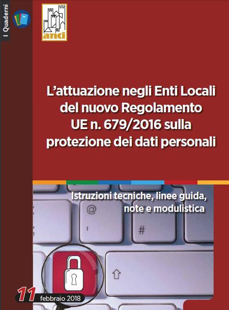 L'attuazione negli Enti Locali del nuovo Regolamento UE n. 679/2016