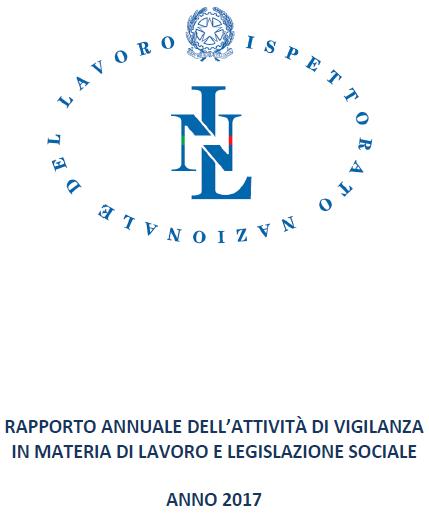 Rapporto annuale attività di vigilanza in materia di lavoro e legislazione sociale