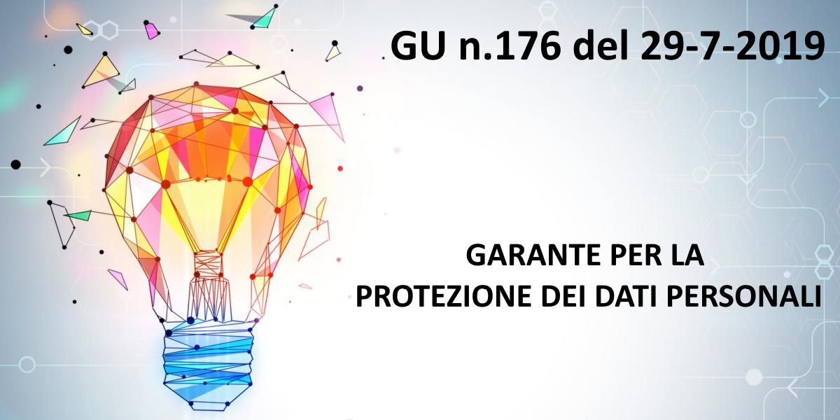 GU n.176 del 29-7-2019