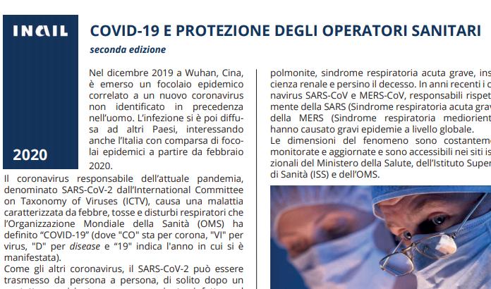 COVID-19 E PROTEZIONE DEGLI OPERATORI SANITARI seconda ed