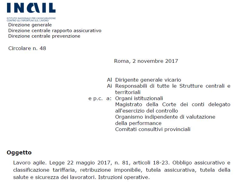 Circolare n. 48 del 2 novembre 2017