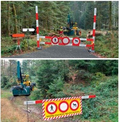 Protezione di terzi durante i lavori forestali